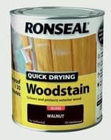 Ronseal Quick Drying Woodstain Gloss 750ml - Walnut